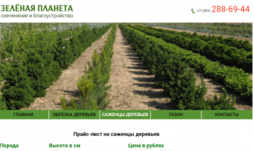 питомник зеленая планета красноярск